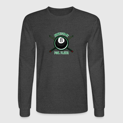 Awesome pool player - Men's Long Sleeve T-Shirt