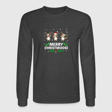 Merry Christmoose Moose Christmas Lover - Men's Long Sleeve T-Shirt