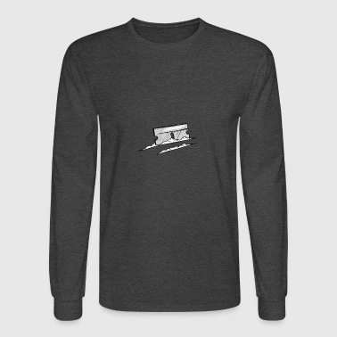 GRAY AND WHITE COKE AND RAZOR BLADE - Men's Long Sleeve T-Shirt