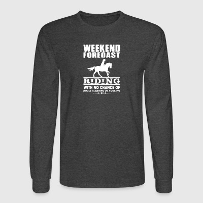 WEEKEND FORECAST RIDING TEE SHIRT - Men's Long Sleeve T-Shirt
