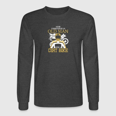 Old Man With A Dirt Bike T Shirt - Men's Long Sleeve T-Shirt