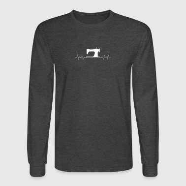 Quilter sewing heartbeat - Men's Long Sleeve T-Shirt