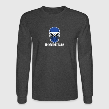 Honduran Flag Skull Honduras - Men's Long Sleeve T-Shirt