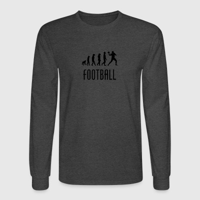 Football Evolution Quarterback - Men's Long Sleeve T-Shirt
