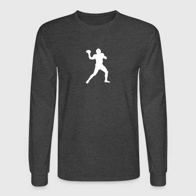 Football Quarterback Silhouette - Men's Long Sleeve T-Shirt