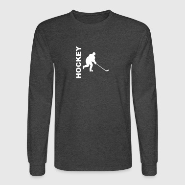 Hockey Player Silhouette - Men's Long Sleeve T-Shirt