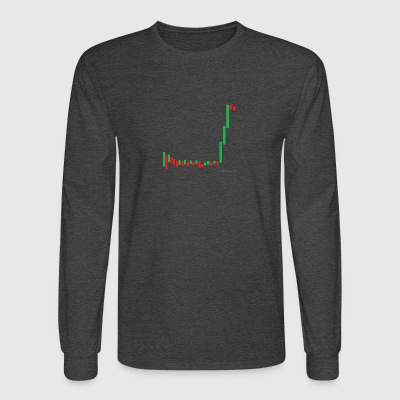 Short Squeeze Bar Graph. - Men's Long Sleeve T-Shirt