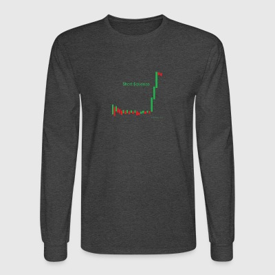 Short squeeze bar graph - Men's Long Sleeve T-Shirt
