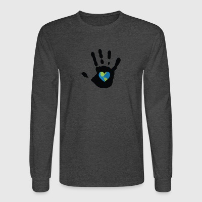 The earth in my hand - Men's Long Sleeve T-Shirt