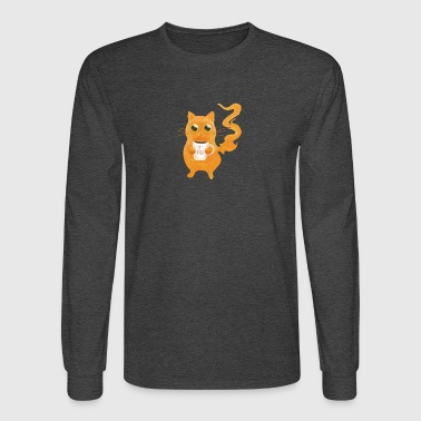 Coffee First Cat - Men's Long Sleeve T-Shirt