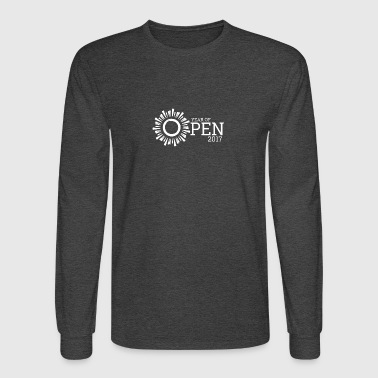 Year of Open (White) - Men's Long Sleeve T-Shirt