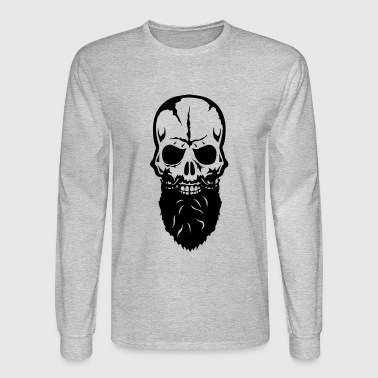 skull beard 25 - Men's Long Sleeve T-Shirt