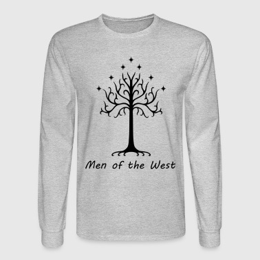 Inverted Classic White Tree of Gondor - Men's Long Sleeve T-Shirt