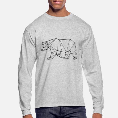 c89b640637 Bear Animal Prism Men s Longsleeve Shirt