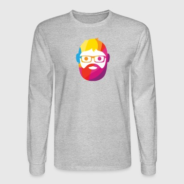 GEEK MAN COLORS - Men's Long Sleeve T-Shirt