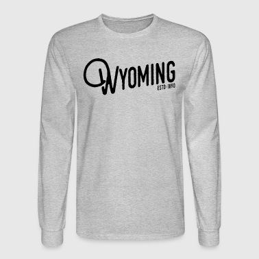 Wyoming Script - Men's Long Sleeve T-Shirt