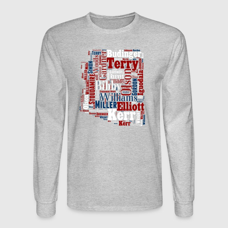 All Time Arizona Basketball Greats Men's Performan - Men's Long Sleeve T-Shirt