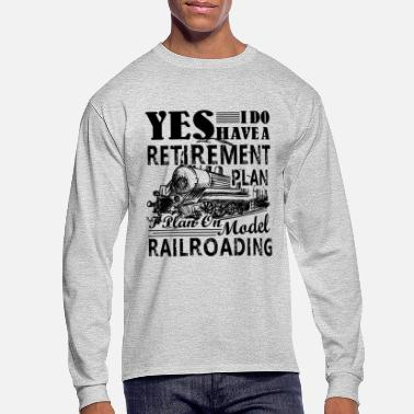 Model Model Railroading Shirt - Model Railroading Tshirt - Men's Long Sleeve T-Shirt