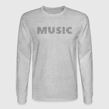 Musical MUSIC NOTES - Men's Long Sleeve T-Shirt