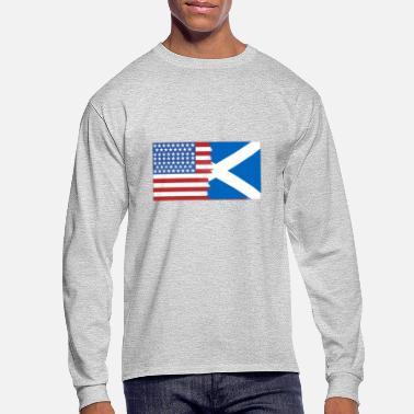 d2437f4ff Scotland-usa-flag Half Scotland Half USA Flags - Men's. Men's  Longsleeve Shirt