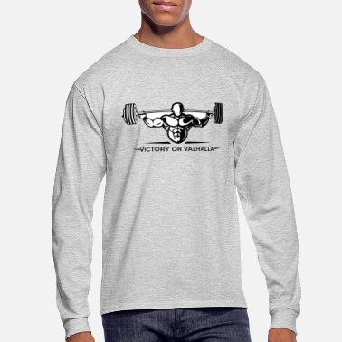 Powerlifting VictoryValhalla5 fitness Bodybuilding powerlifting - Men's Long Sleeve T-Shirt