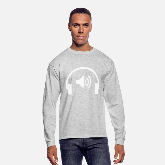 Earphones Long-Sleeve Shirts - Earphone - Men's Longsleeve Shirt heather gray