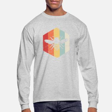 Bee Retro Vintage Bee Keeper Icon - Men's Long Sleeve T-Shirt