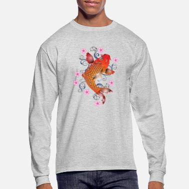 Koi Japanese Koi Fish - Men's Long Sleeve T-Shirt
