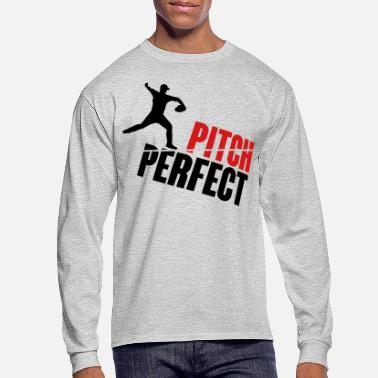 Pitch Pitch Perfect - baseball - Men's Long Sleeve T-Shirt