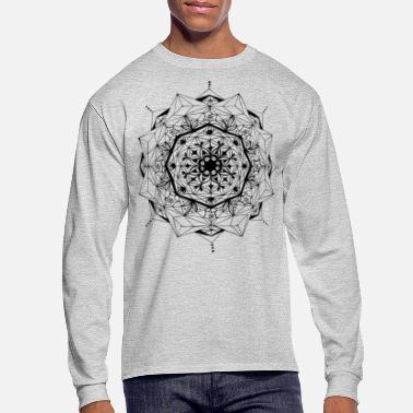 Geometrik Star - Men's Long Sleeve T-Shirt