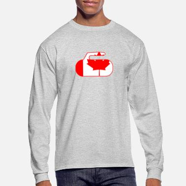 Canada Canada Flag Curling Rock - Men's Long Sleeve T-Shirt