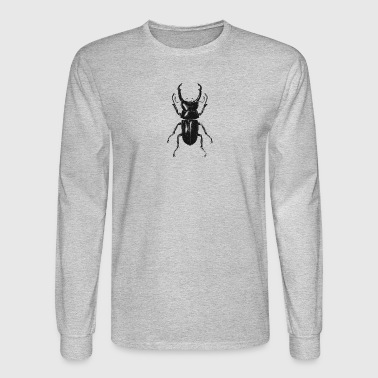 Entomology Retro Insect Beetle Entomology distressed Design - Men's Long Sleeve T-Shirt