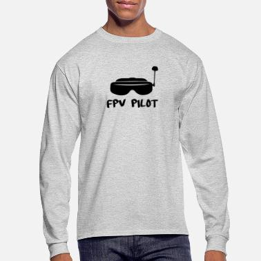 Pilot FPV Pilot with Googles - Men's Long Sleeve T-Shirt