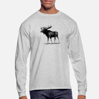 Moose Animals Moose - Men's Longsleeve Shirt