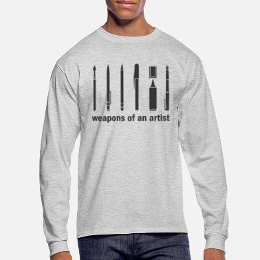 Paint Brush Weapons of an Artist! - Men's Longsleeve Shirt