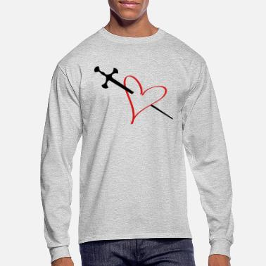 Serce heart - Men's Longsleeve Shirt