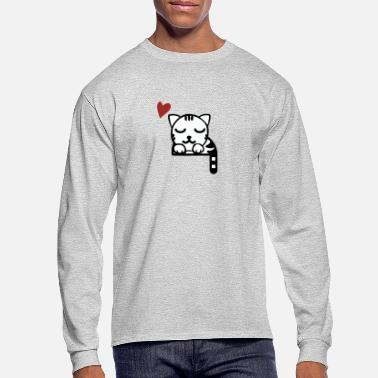KITTY TAKING A NAP - Men's Longsleeve Shirt