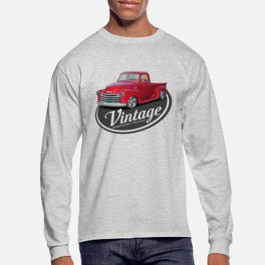 Red Vintage Red Truck - Men's Longsleeve Shirt