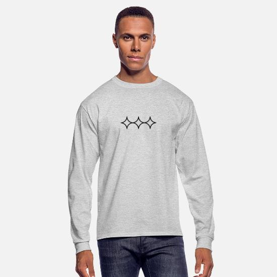 Symbol  Long-Sleeve Shirts - When you squint your eyes light looks like this. B - Men's Longsleeve Shirt heather gray