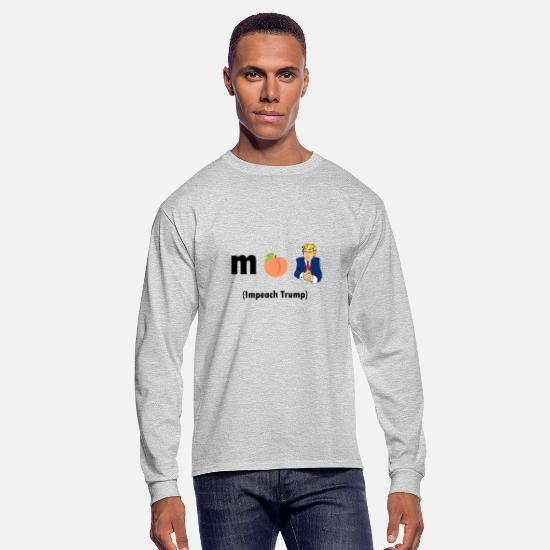 Dark Side Long-Sleeve Shirts - ImPeachin' Trump in Chatroom Icons - Men's Longsleeve Shirt heather gray