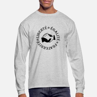 Fraternity Liberty, equality, fraternity - Men's Longsleeve Shirt
