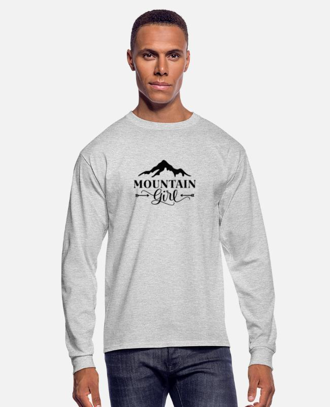 Mountains Long-Sleeved Shirts - Mountain girl - Men's Longsleeve Shirt heather gray