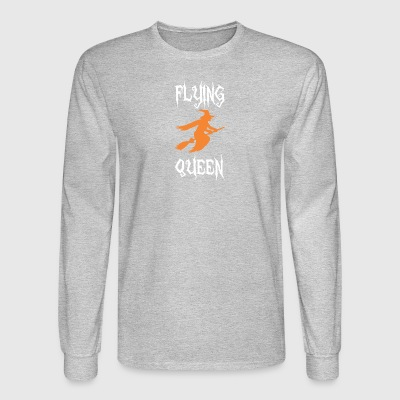 Flying Queen Halloween Broom Witch - Men's Long Sleeve T-Shirt