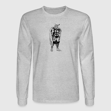 80's Style Marvel Comics Thor (Black and White) - Men's Long Sleeve T-Shirt