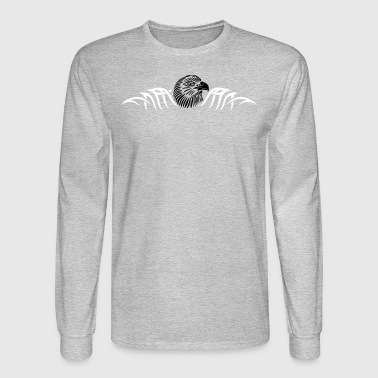 Eagle head with tattoo tribal ornament. - Men's Long Sleeve T-Shirt