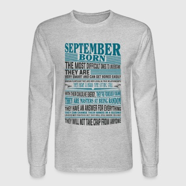 Best selling Born in September present - Men's Long Sleeve T-Shirt
