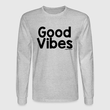Good Vibes in Black - Men's Long Sleeve T-Shirt