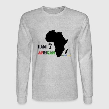 #RepYourNation: I AM AFRICAN (Original) - Men's Long Sleeve T-Shirt