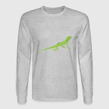 lizard eidechse reptile reptilien gecko animal tie - Men's Long Sleeve T-Shirt