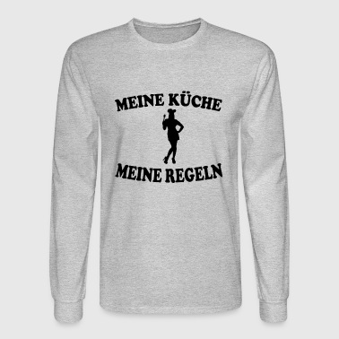 MEINE KUeCHE MEINE schwarz - Men's Long Sleeve T-Shirt